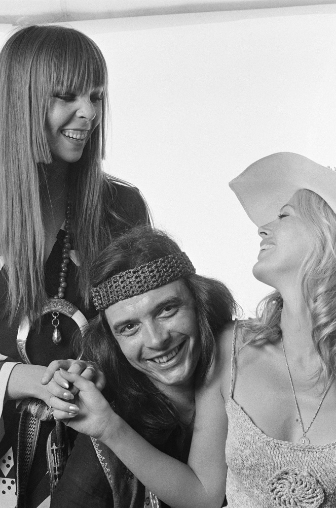 Penelope Tree, David Bailey and Britt Ekland, 1965
